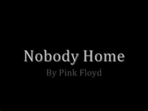 pink floyd nobody home with lyrics