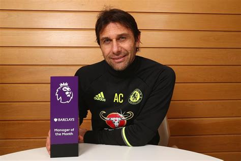 epl coach of the month conte makes history as barclays manager of the month