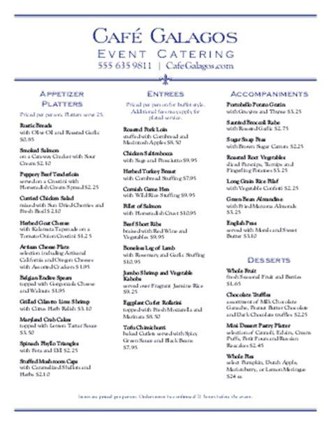 Graduation Party Catering Menu Catering Menus Graduation Dinner Menu Templates