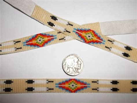 beaded hat band patterns american navajo beaded white buckskin leather