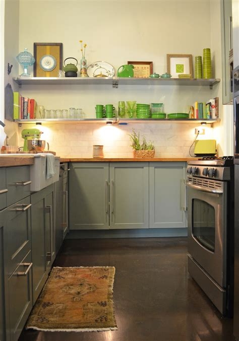 Narrow Kitchen Countertops by Marvelous Fiestaware In Midcentury Dallas With Narrow Kitchen Next To Butcher Block Countertops