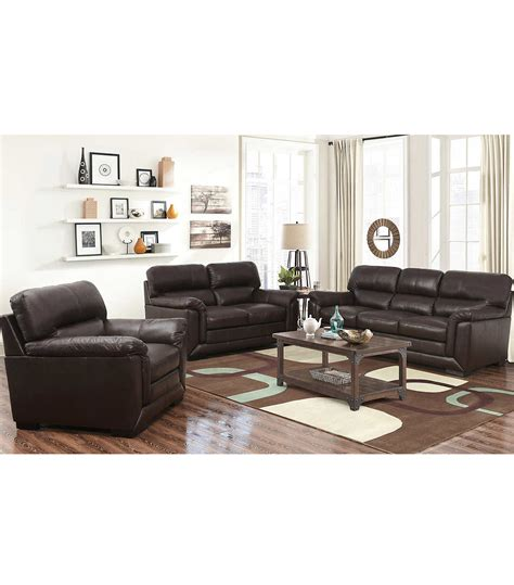 living room 3 piece sets living room sets wade 3 piece leather set