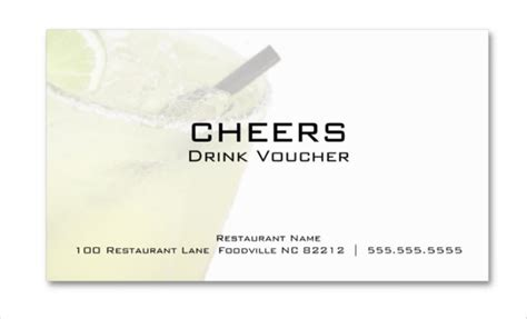 free drink card template 25 business voucher templates free sle exle