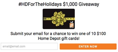 Home Depot Gift Cards At Cvs - win 100 home depot gift card takes less than 5 seconds to enter my dallas mommy