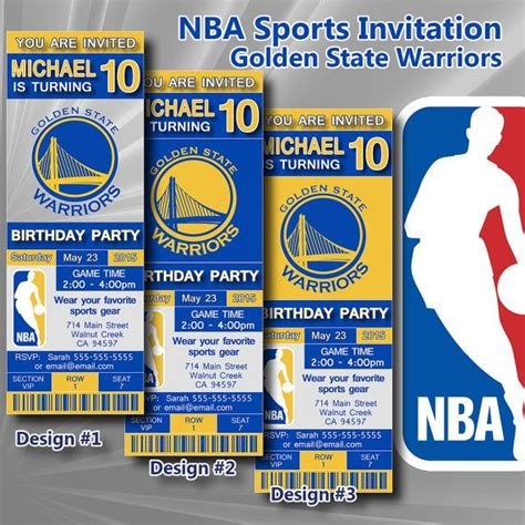 nba printable birthday invitations golden state warriors nba birthday invitation basketball