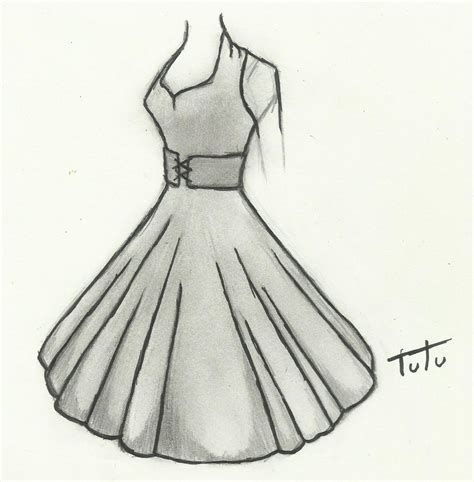 Drawing Dresses by 50 S Dress Drawing By Tutu2324 On Deviantart
