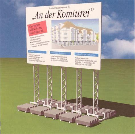 Bauschild Klein by Lichtwerbung Ulrich Klein Schilder