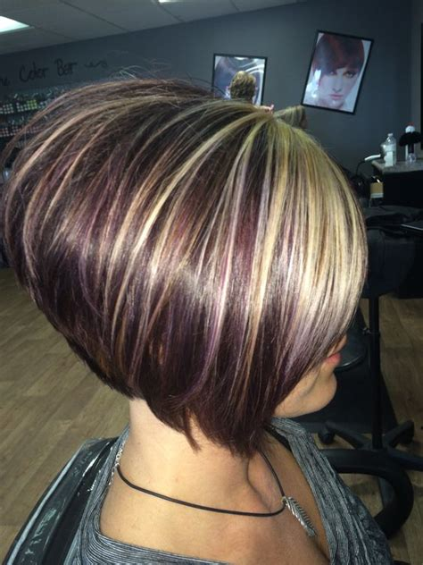 stacked bob haircuts dyed red beautiful colors and violets on pinterest
