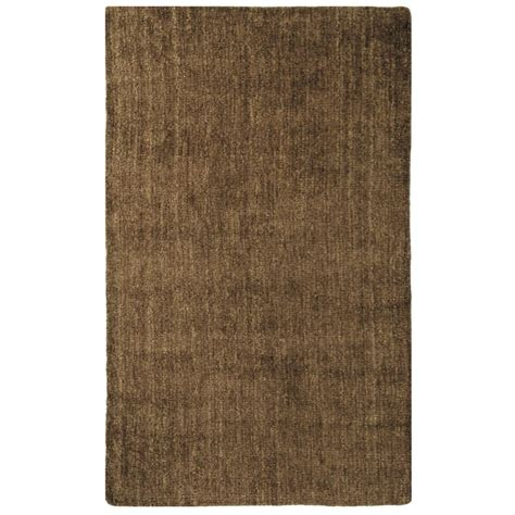 lanart rug brown fleece 8 ft x 10 ft area rug the home