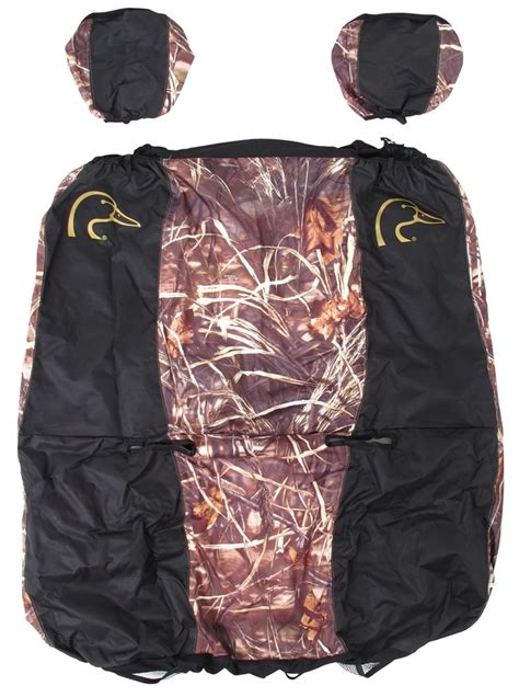 black duck camo seat covers ducks unlimited universal fit bench seat cover polyester