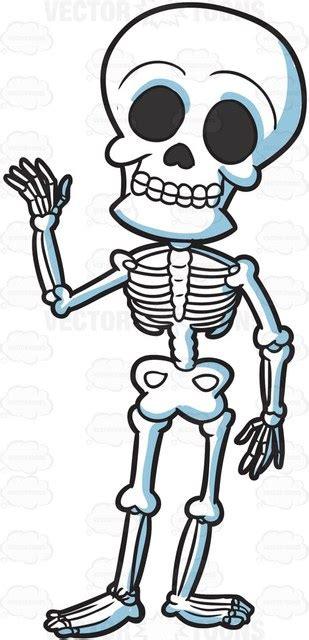 skeleton clipart a friendly skeleton clipart vector