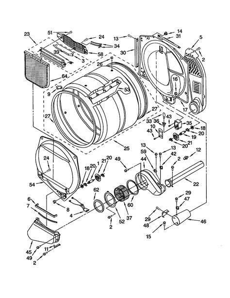 kenmore gas dryer parts diagram i a sears kenmore elite front load gas dryer model