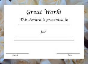 free printable award template free printable award certificate template free printable