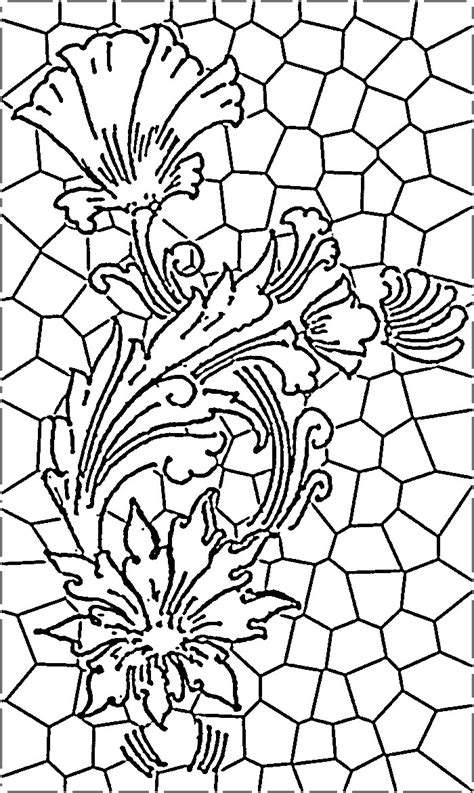 stained glass l patterns stain glass window coloring pages