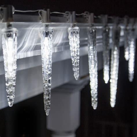 cool white icicle lights c7 falling icicle cool white led light bulbs