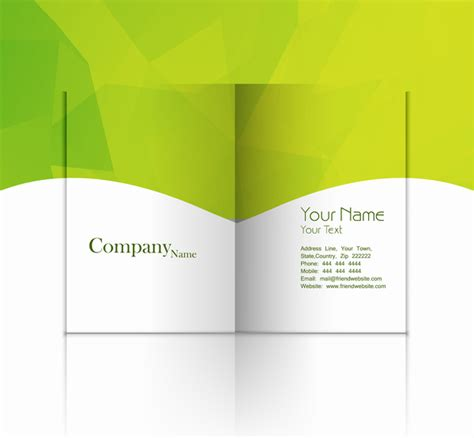 folded business card template illustrator business fold flyer professional template with corporate