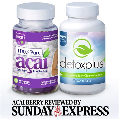 Acai Berry Detox Results by Acai Berry Reviewed By The Sunday Express Shows Impressive