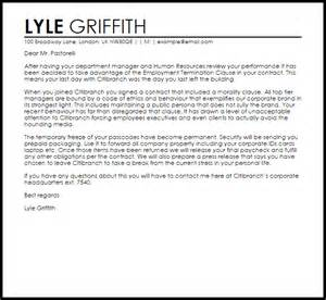 employment cover letter sles free employment contract termination letter livecareer
