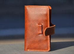 hand stitched iphone  leather case  wallet gadgetsin