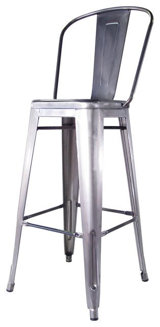 industrial metal bar stools with backs bouchon french industrial steel with back cafe barstool