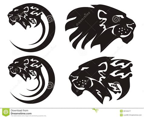 tribal lion symbols vector royalty free stock photography