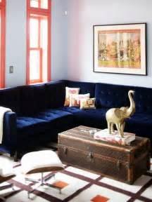 navy sectional sofa navy velvet sectional sofa my bonus room