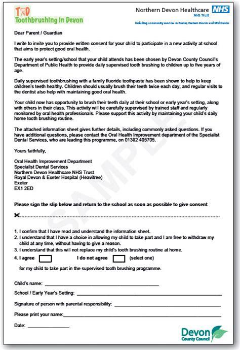 parental consent form template uk appendices forms parental consent form healthy teeth