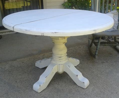 shabby chic pedestal table distressed shabby chic pedestal dining by