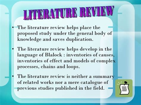 Research Literature Review Guidelines by Sinecos Profile Pvt Ltd Water Stop Water Proofing Solutions 187 Literature Review In The
