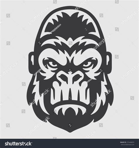 Koko Al Tribal Saladin Black gorilla logo mascot emblem vectores en stock