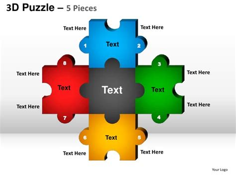 powerpoint template puzzle pieces free 5 puzzle pieces powerpoint presentation templates