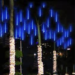 Multi color 30cm meteor shower rain tubes ac100 240v led christmas