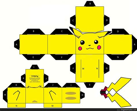 Papercraft Pattern - puca papercraft kit pikachu