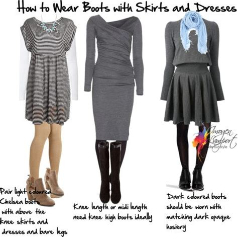 what shoes to wear with skirts and dresses in winter