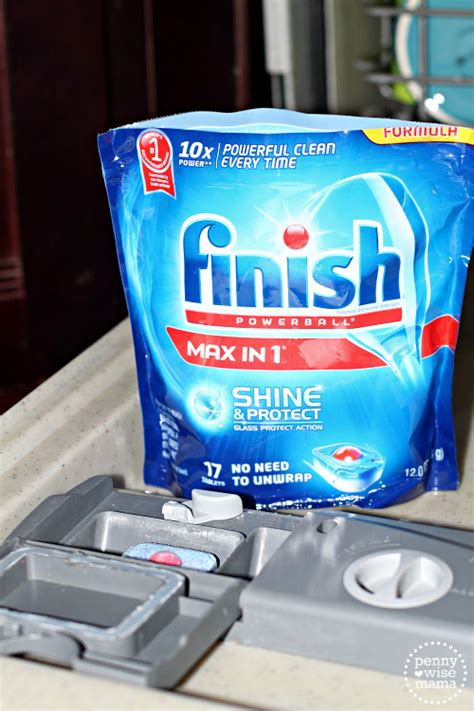 get your dishes clean shiny with finish 174 max in 1