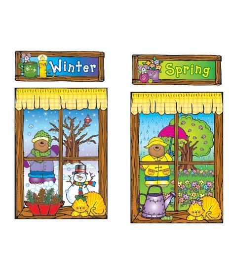 Seasons Board four seasons windows bulletin board set grade pk 5 carson dellosa publishing
