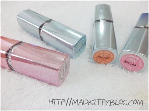 Lipstik Maybelline Watershine maybelline watershine lip color lychee b24
