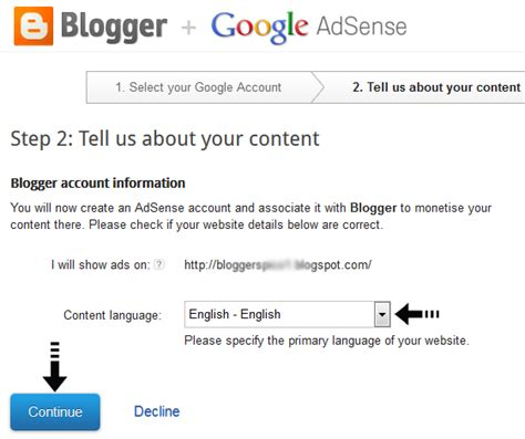 adsense languages how to enable google adsense and sign up on your blog site