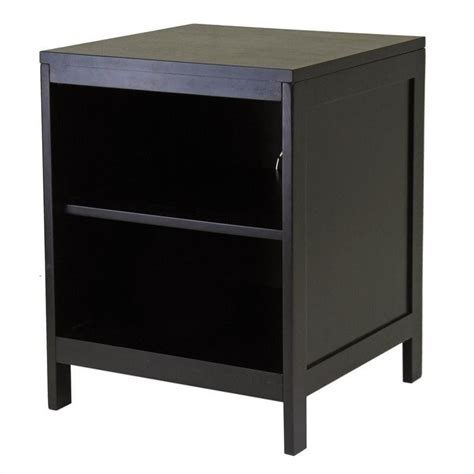Open Shelf Tv Stand winsome hailey small modular espresso w open shelf tv