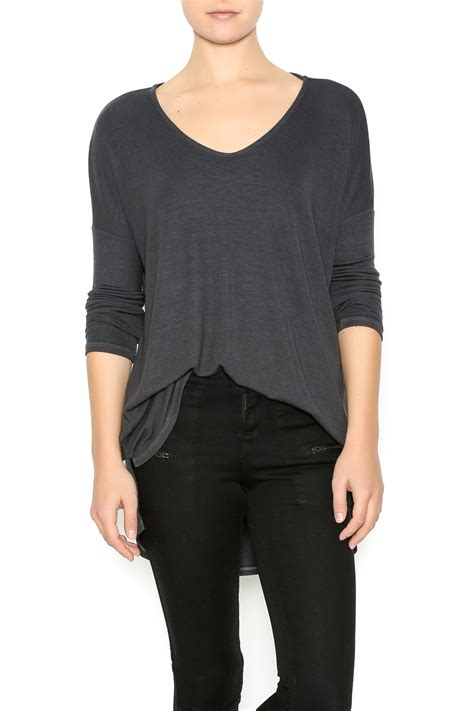 Top Casual 57 michael slit high low top from manhattan by olive
