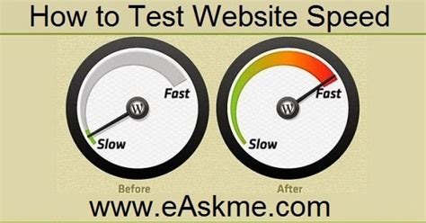 test website speed how to test website speed