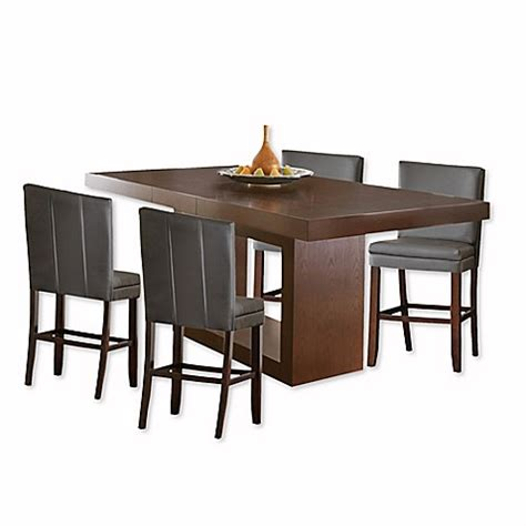 Antonio Dining Table Steve Silver Co Antonio Counter Height Dining Table In Cherry Bed Bath Beyond