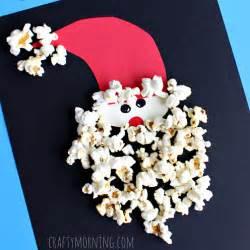 popcorn santa claus craft for christmas crafty morning
