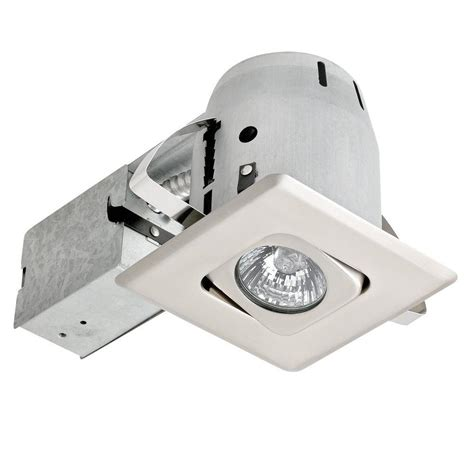 led recessed directional lighting globe electric 4 in brushed steel recessed square