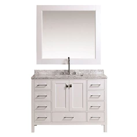 home depot design element vanity design element london 48 in w x 22 in d vanity in white