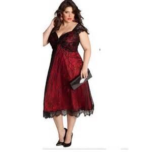 Plus size evening dresses tea length prom dresses cheap