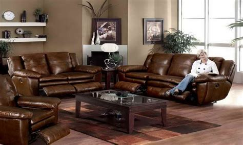 bedroom furniture and decor brown leather sofa living