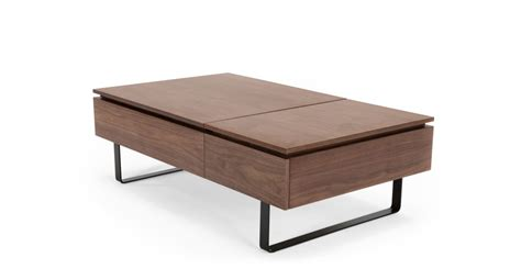 functional coffee table flippa functional coffee table with storage walnut made com