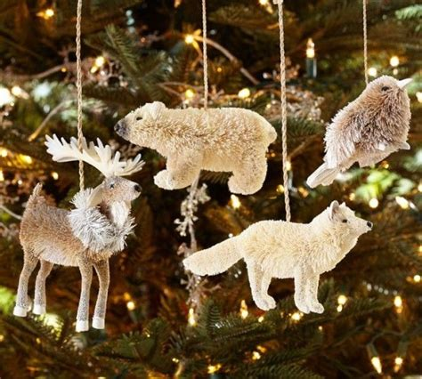 arctic animal ornaments christmas tree my christmas