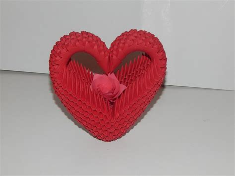 3d Origami Hearts - how to make 3d origami model2 part1